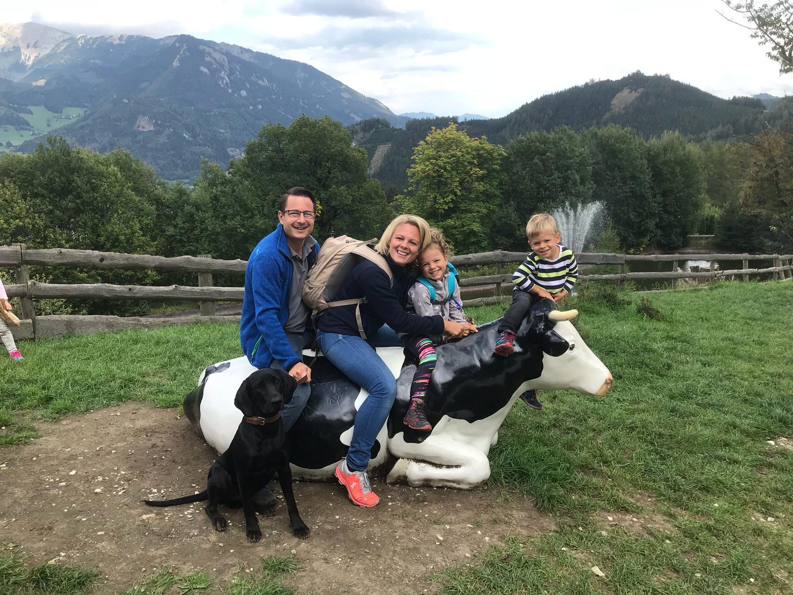 Eva, Wolfgang, Anna und Leo