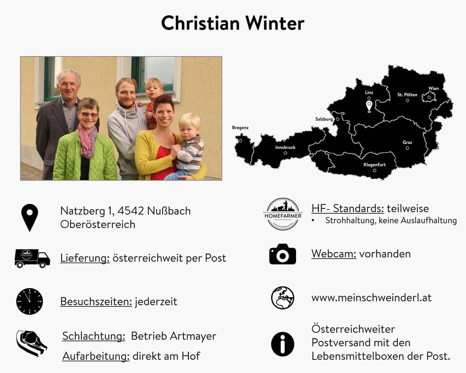 Bauer Winter aus Oberösterreich